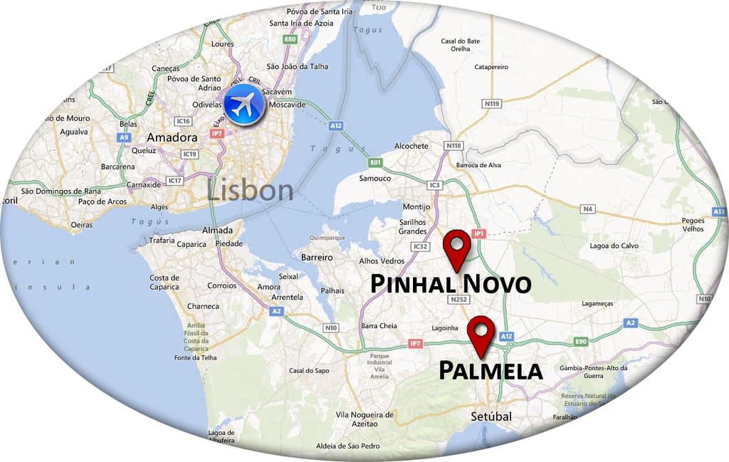 pinhal novo mapa Venue and Access pinhal novo mapa
